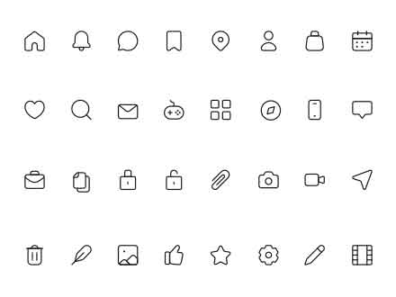 Multipurpose Icons