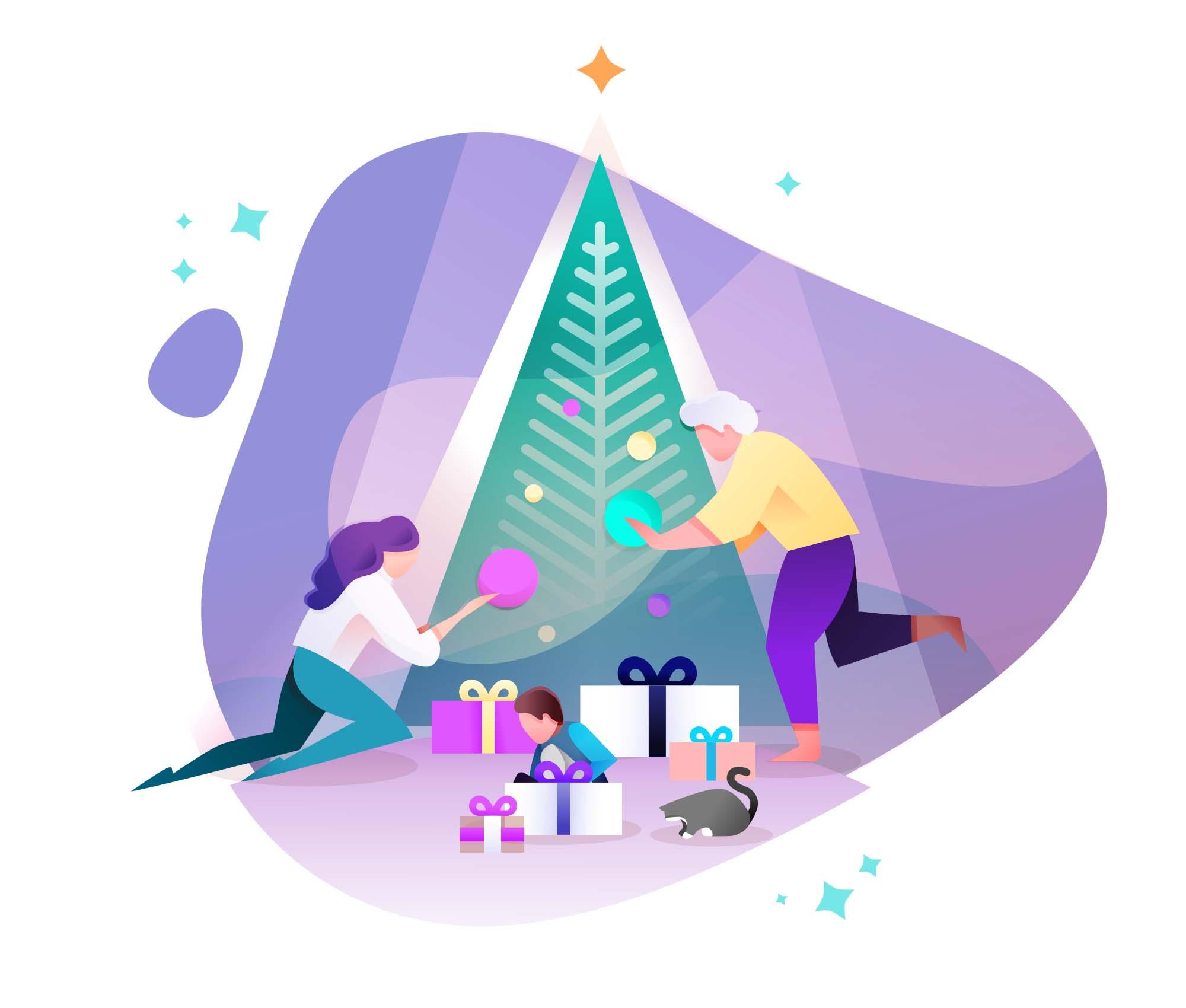New Year Vector Illustrations 2