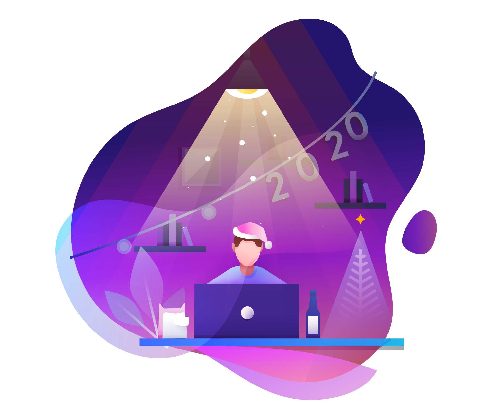 New Year Vector Illustrations 3