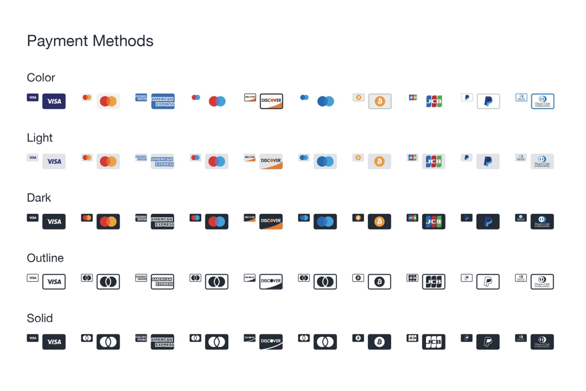 Payment Method Icons 2