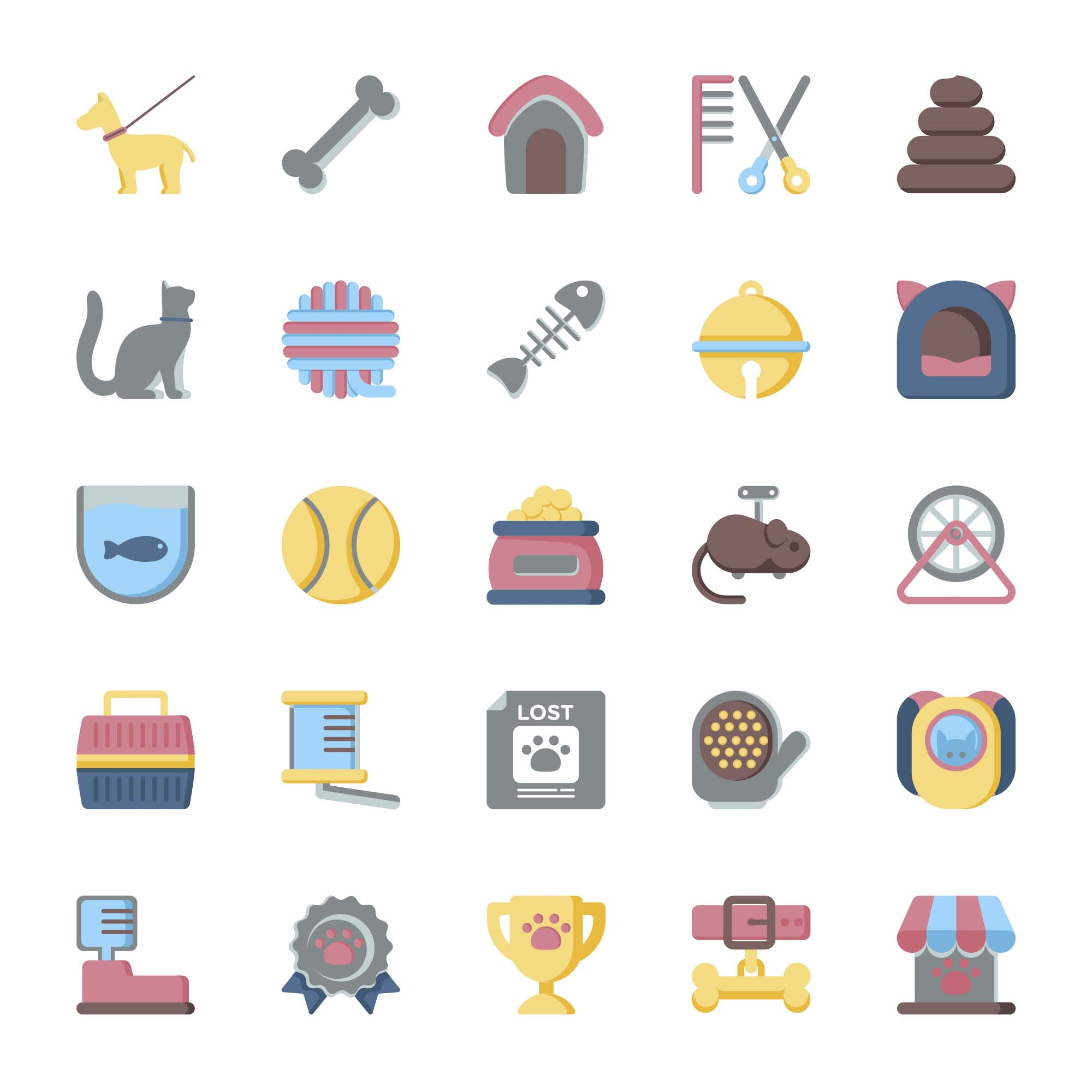 Pet Vector Icons