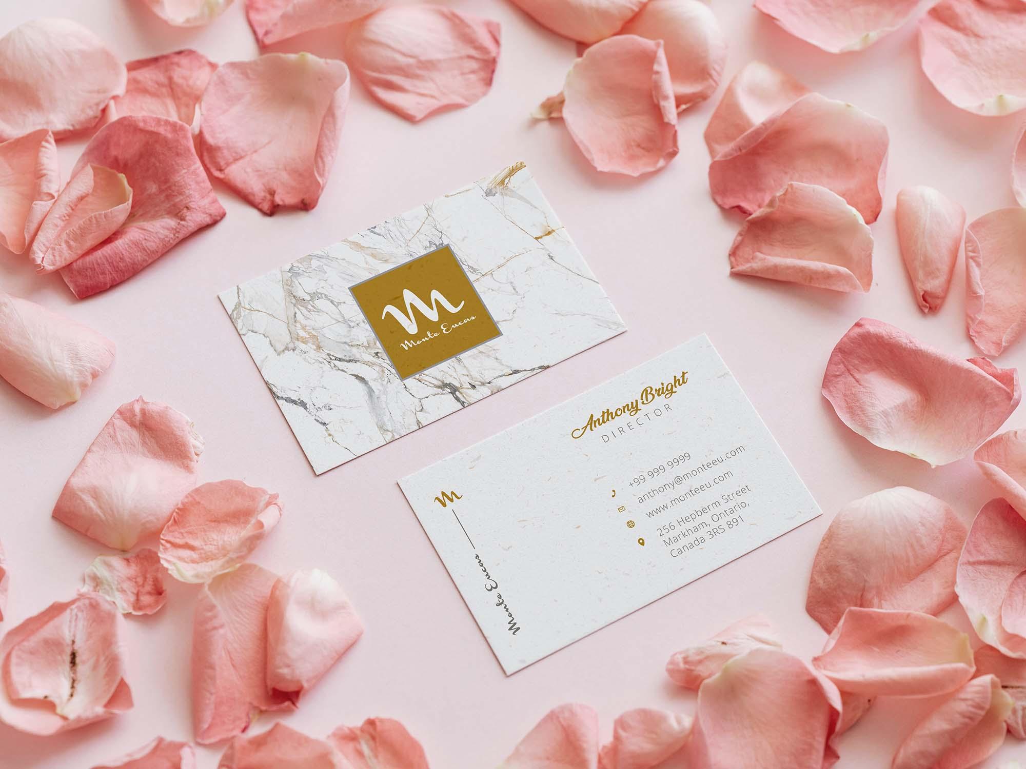 Petal Business Card Mockup