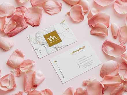 Petal Business Card Mockup