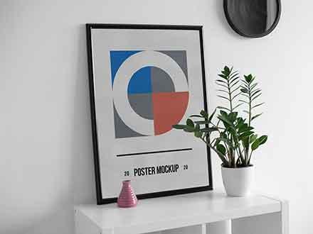 Poster on Desk Mockup