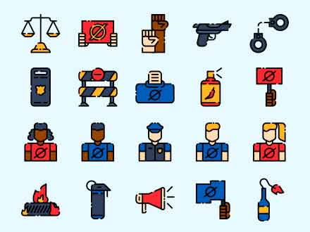 Protest Vector Icons