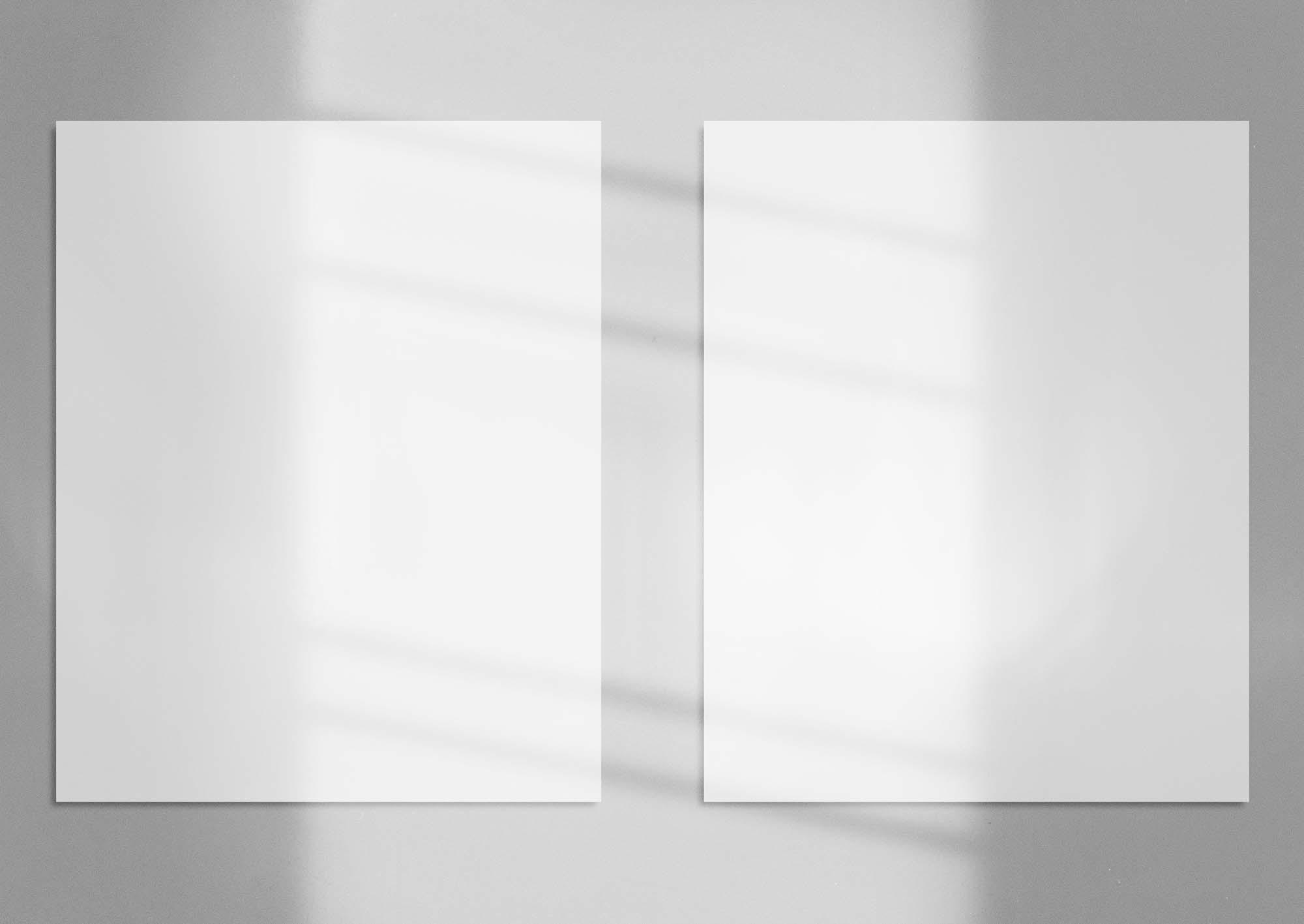 Realistic Shadowed Poster Mockup 2