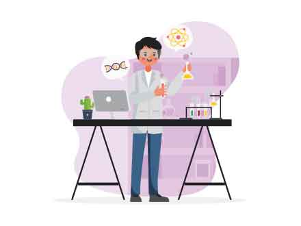 free scientist vector illustration ai free scientist vector illustration ai