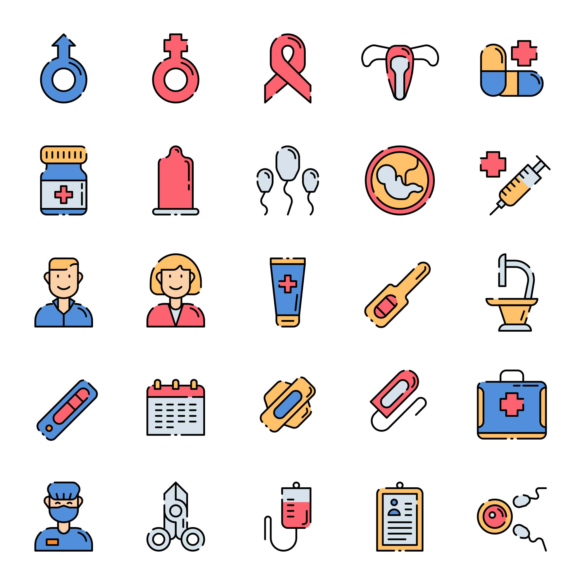 Sexual Health Icons