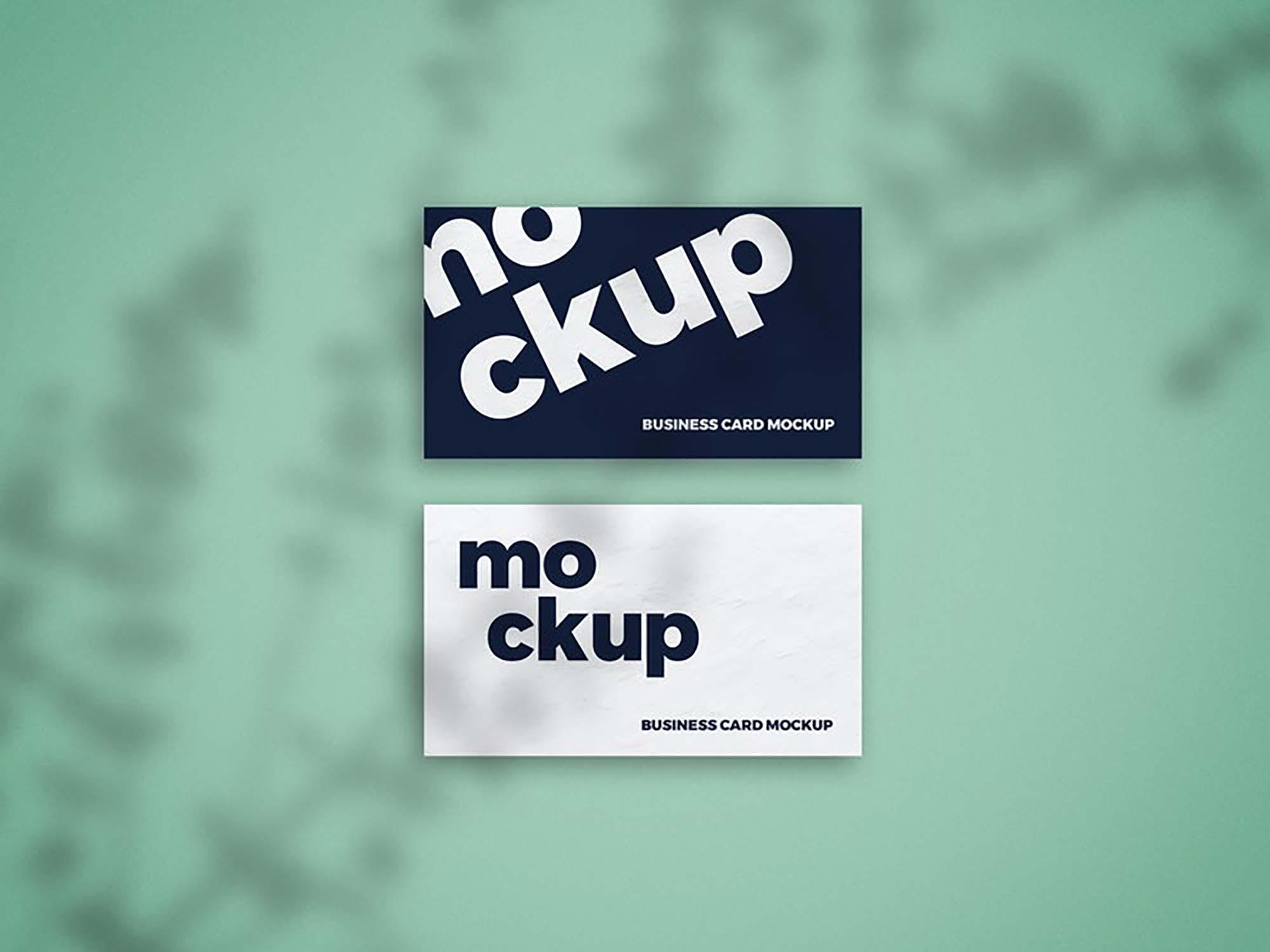 Shadow Overlay Business Card Mockup