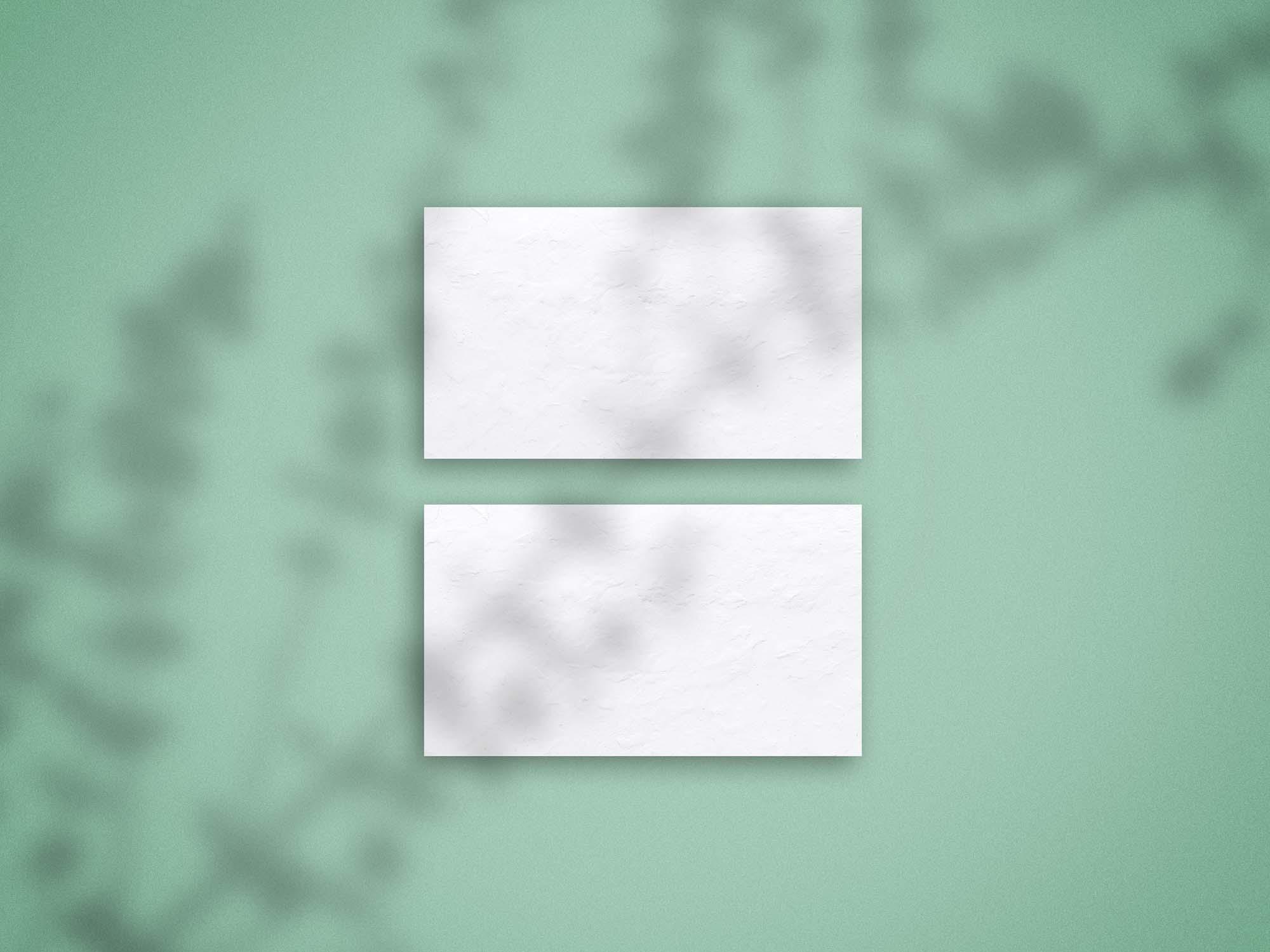 Shadow Overlay Business Card Mockup 2