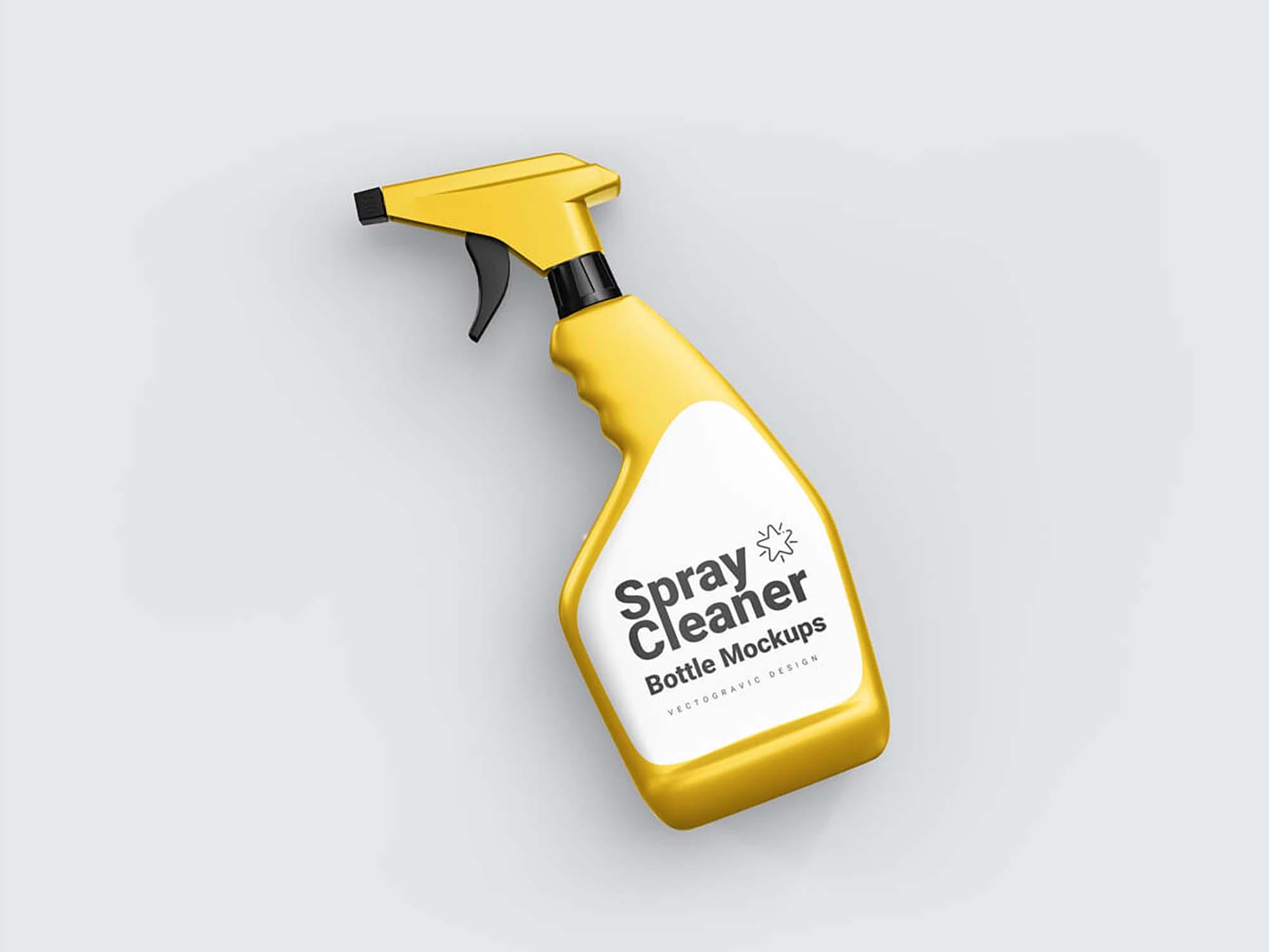 Spray Cleaner Bottle Mockup
