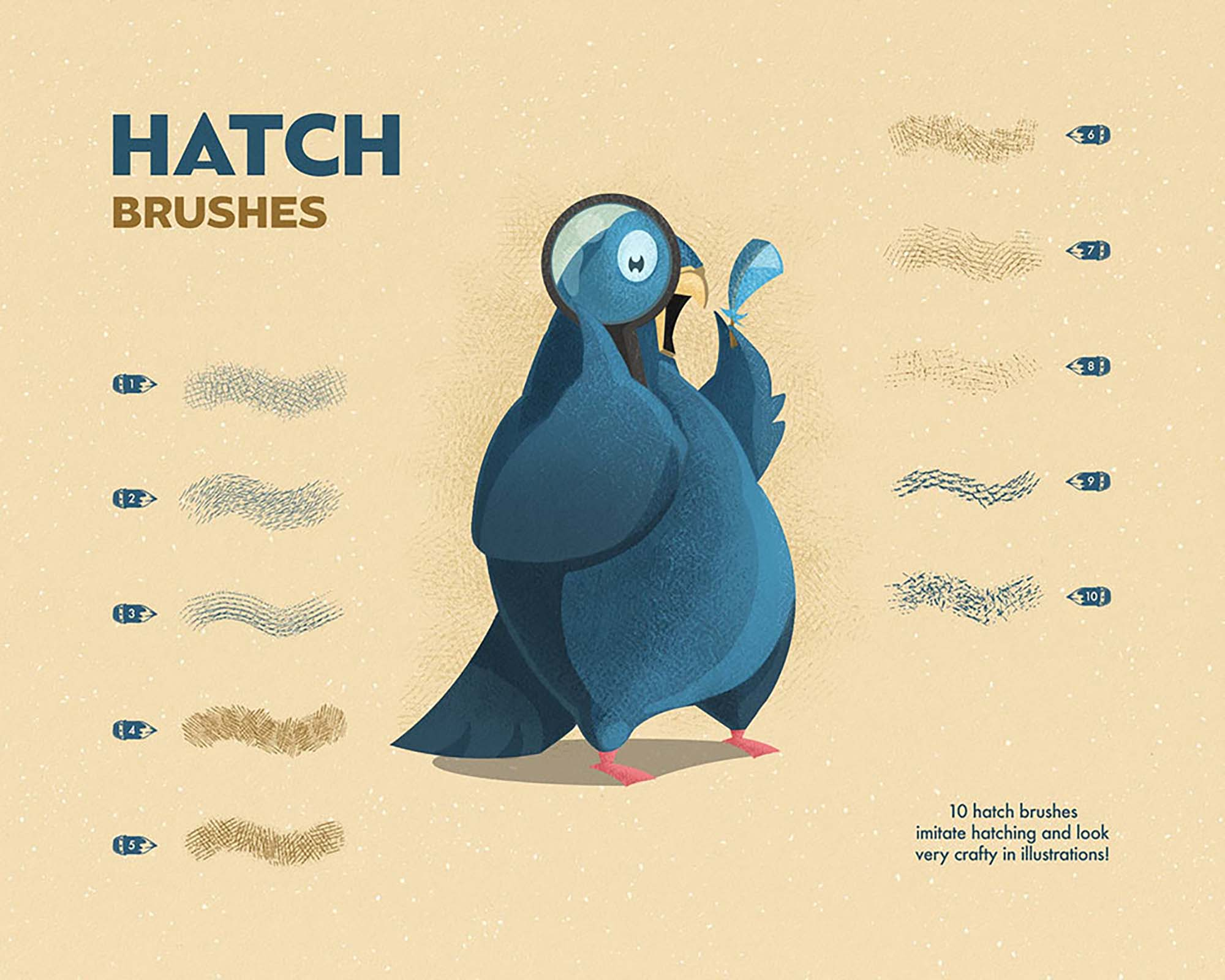 Spray & Hatch Illustrator Brushes 1