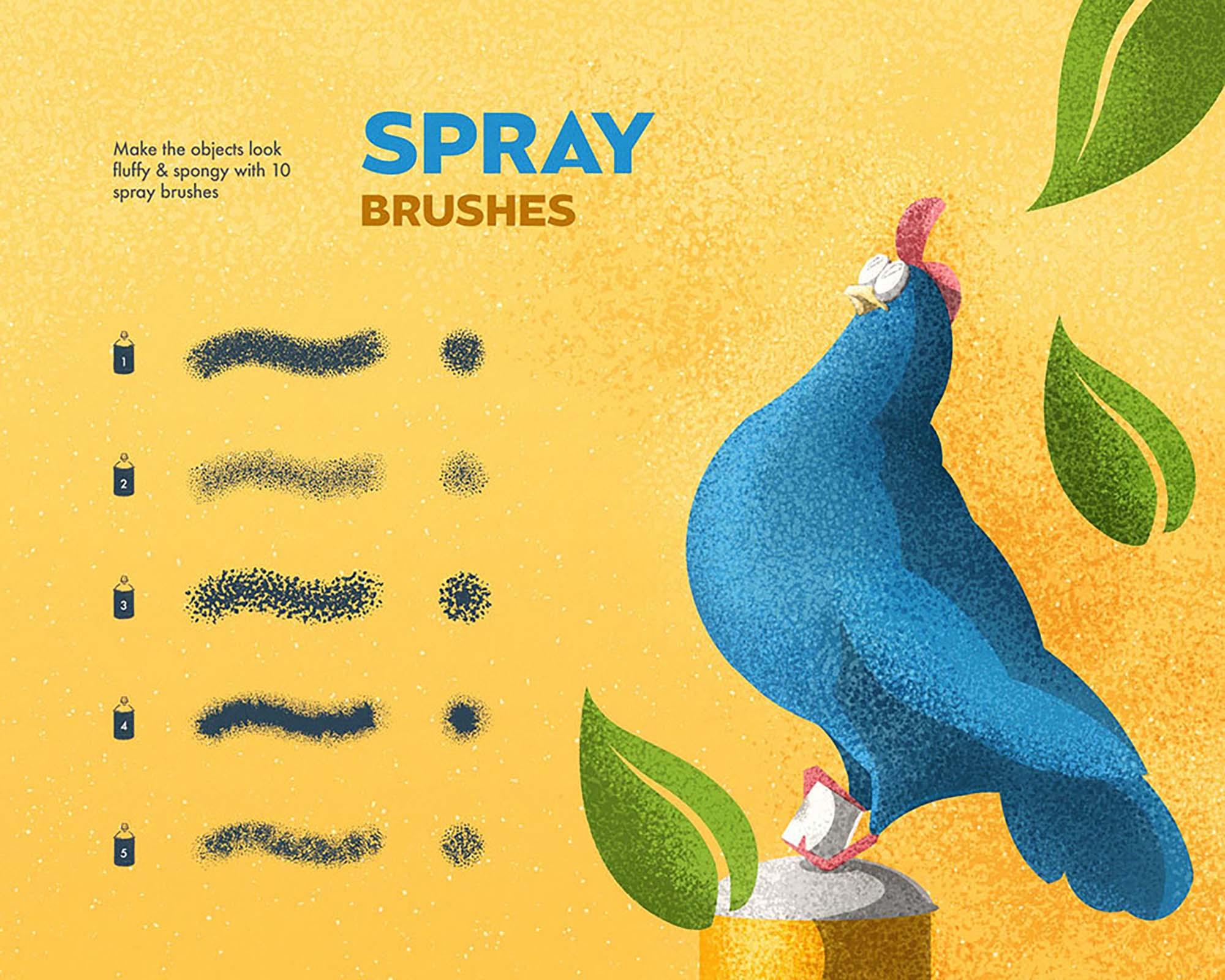 Spray & Hatch Illustrator Brushes 2