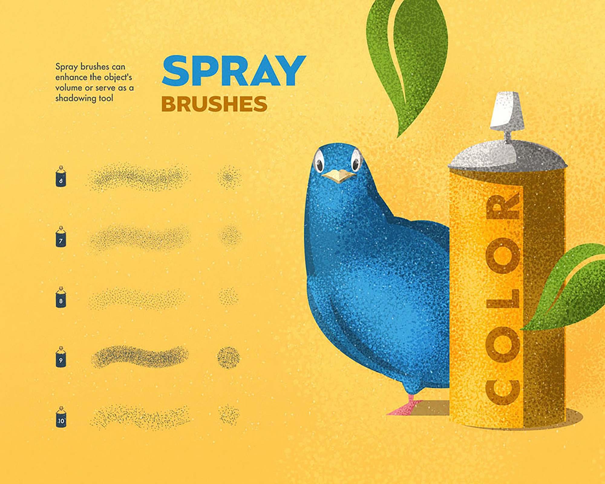 Spray & Hatch Illustrator Brushes 3