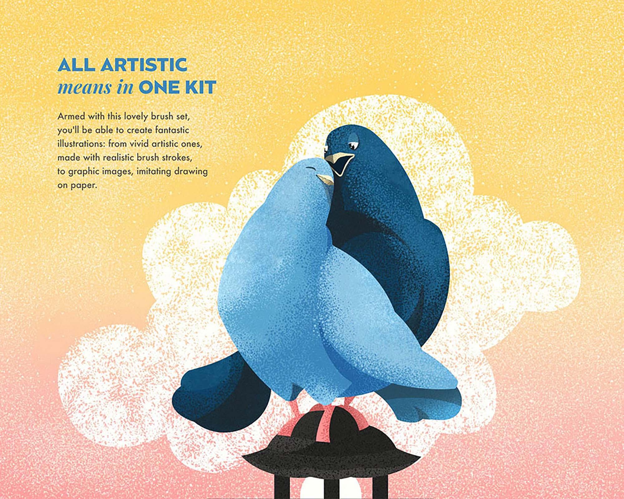 Spray & Hatch Illustrator Brushes 4