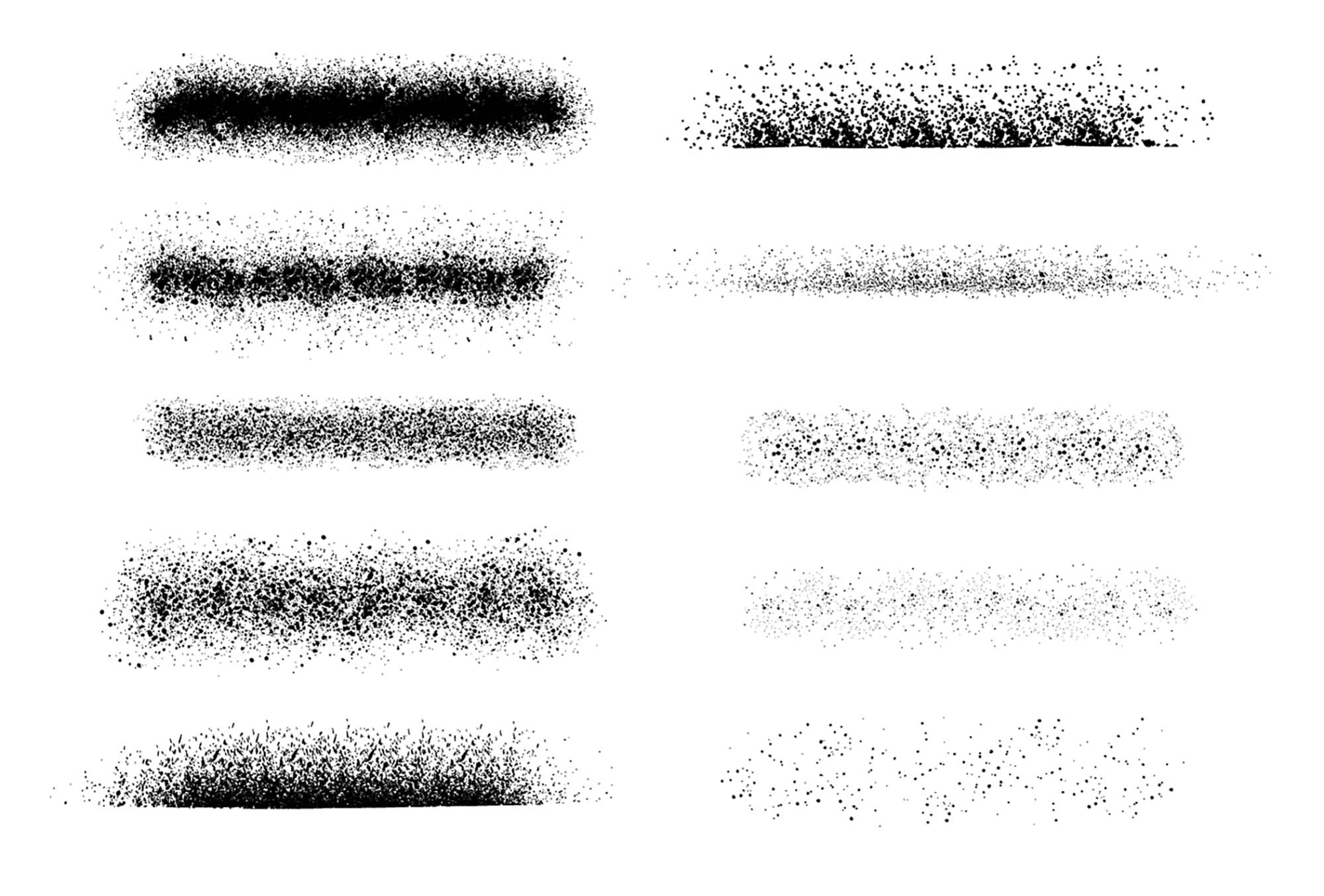 Spray Paint Stipple Brushes for Illustrator
