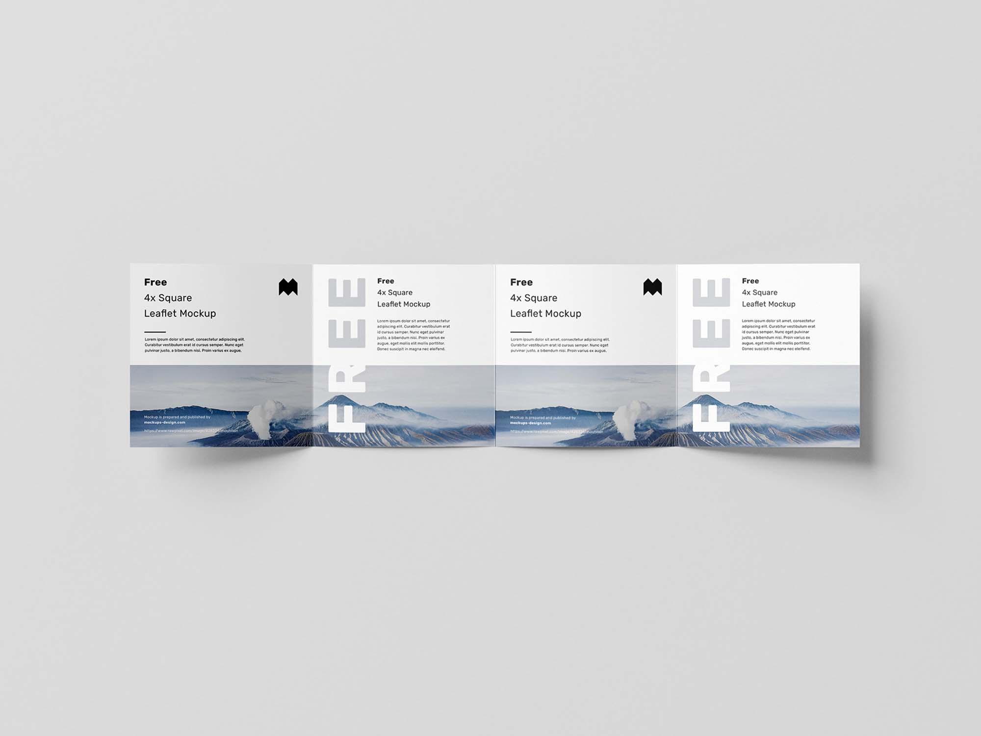 Square 4-Fold Leaflet Mockup 2