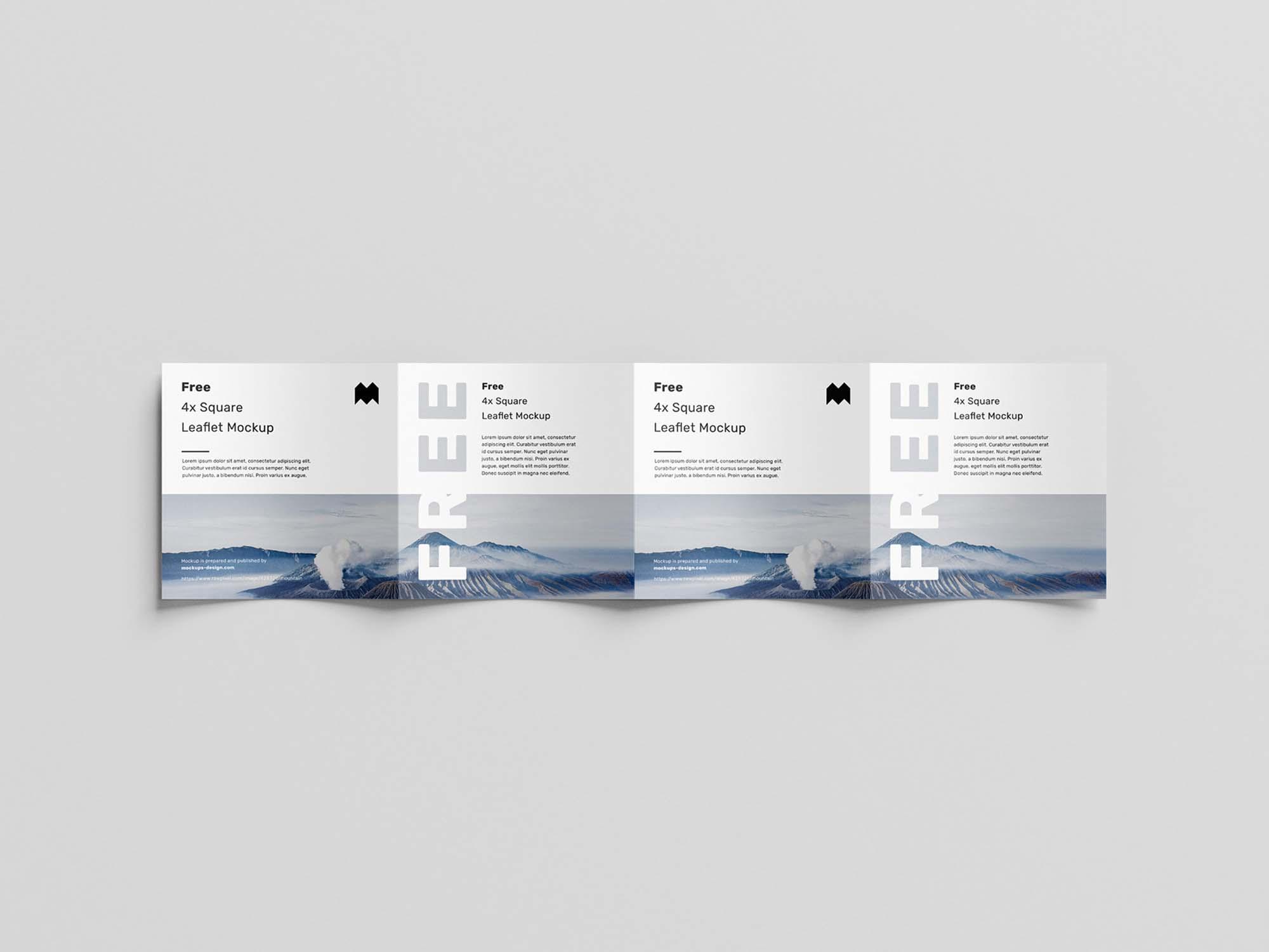 Square 4-Fold Leaflet Mockup 3