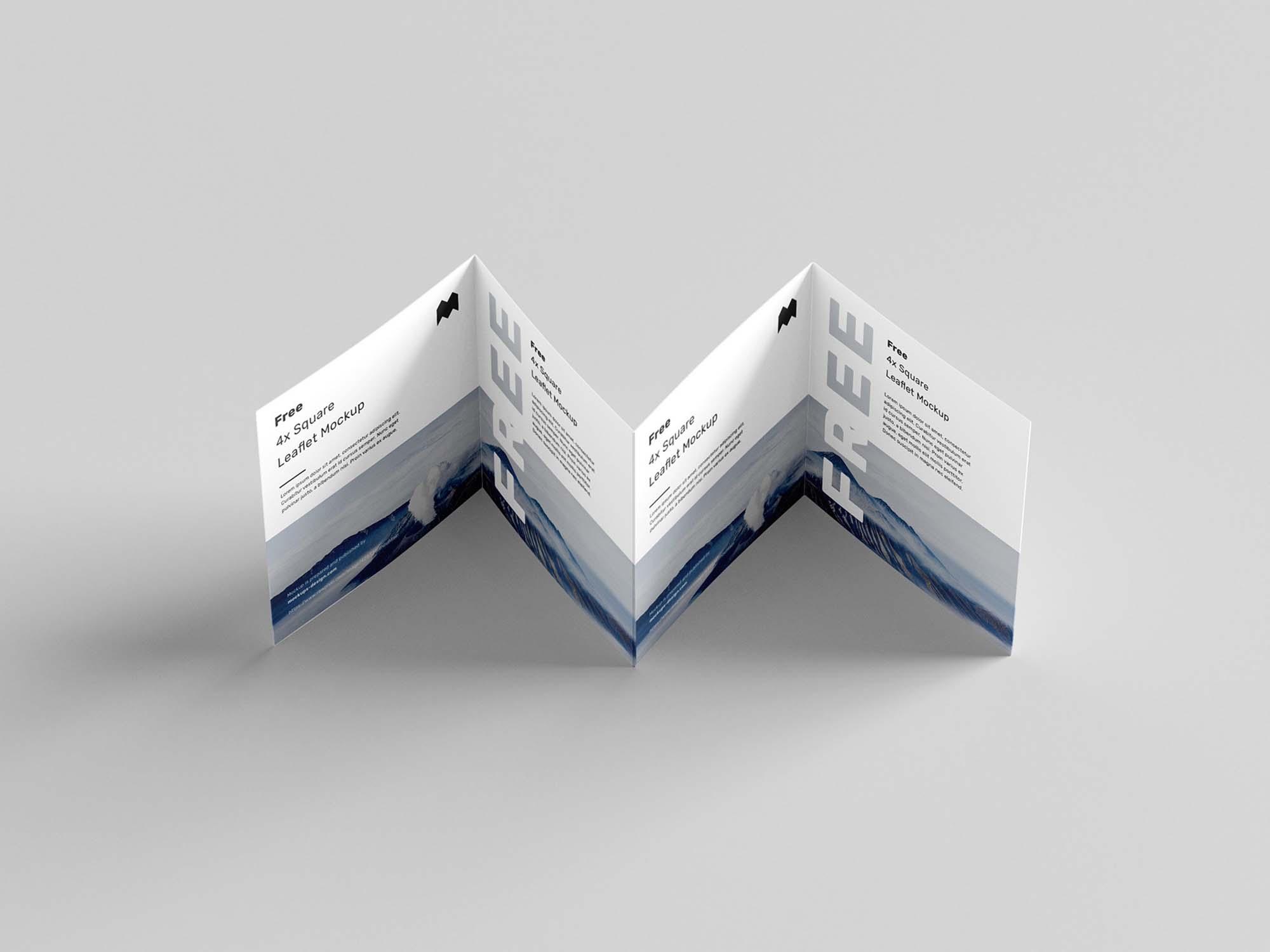 Square 4-Fold Leaflet Mockup 5