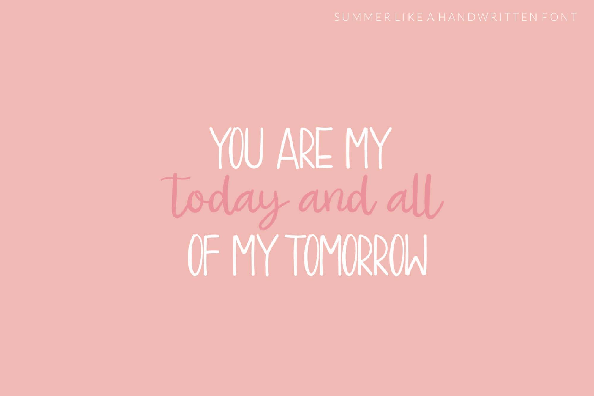 Summer Like Font 7