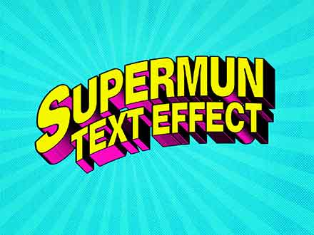 Superhero Comic Text Effect