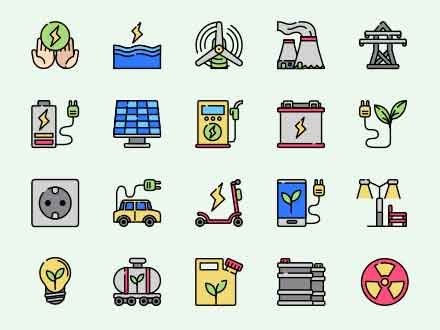 Sustainable Energy Vector Icons