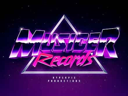 Synthwave 80s Text and Logo Effect