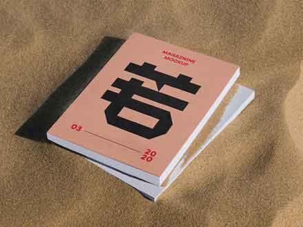 Thick Magazine Mockup