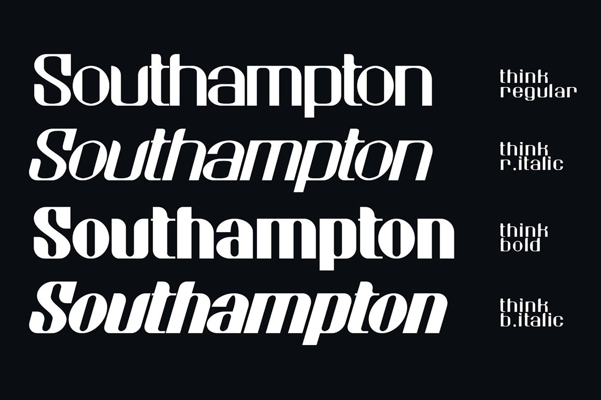 Think Sans Serif Typeface 4