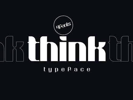 Think Sans Serif Typeface