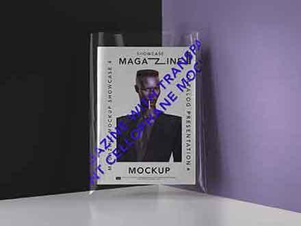 Transparent Cover Magazine Mockup
