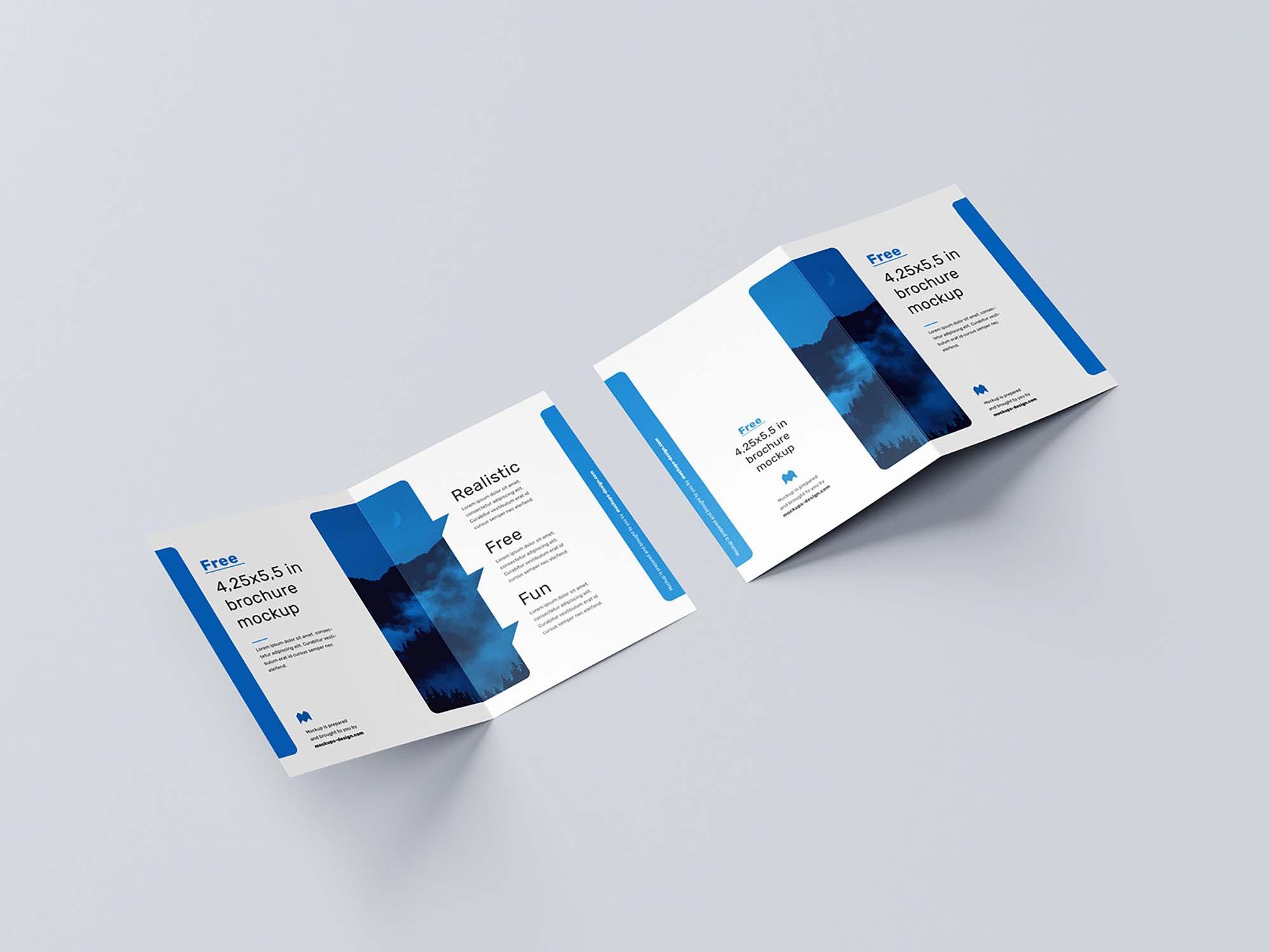 US Format Bifold Brochure Mockup 3