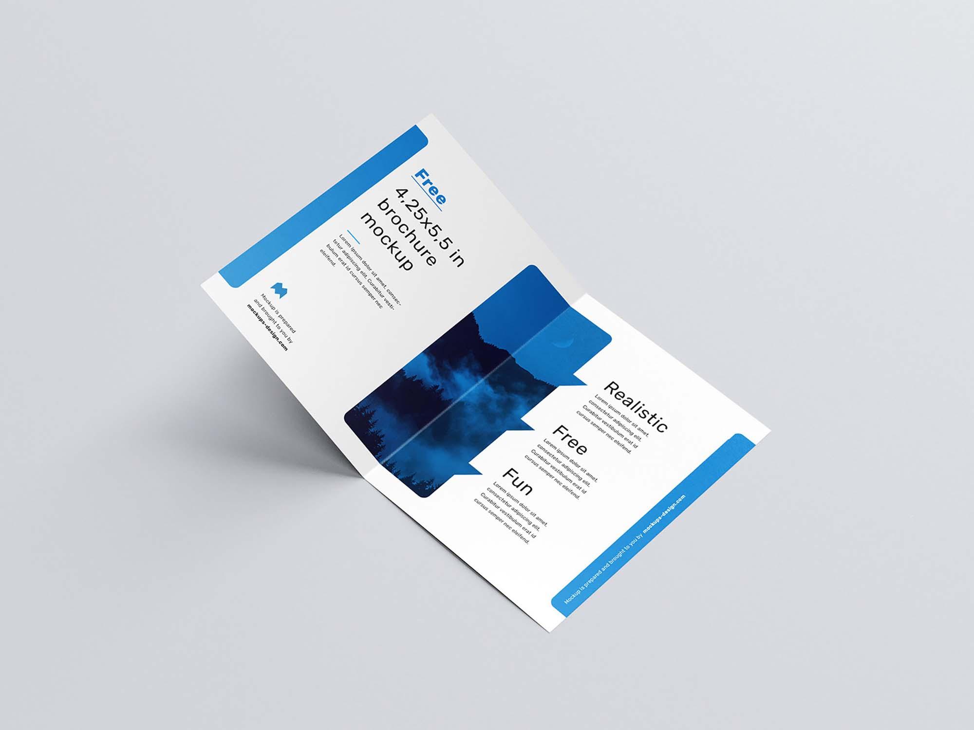 US Format Bifold Brochure Mockup 4