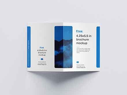 US Format Bifold Brochure Mockup