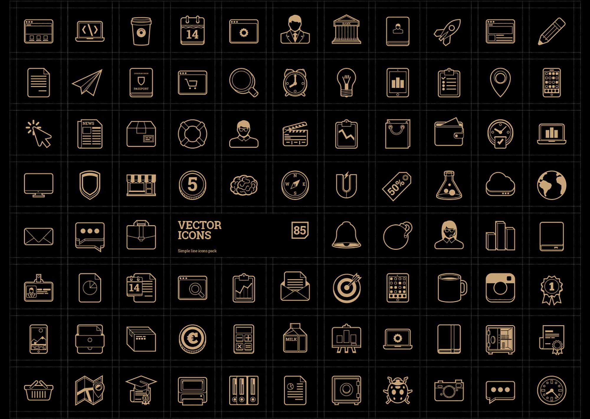 Vector Line Icons 2