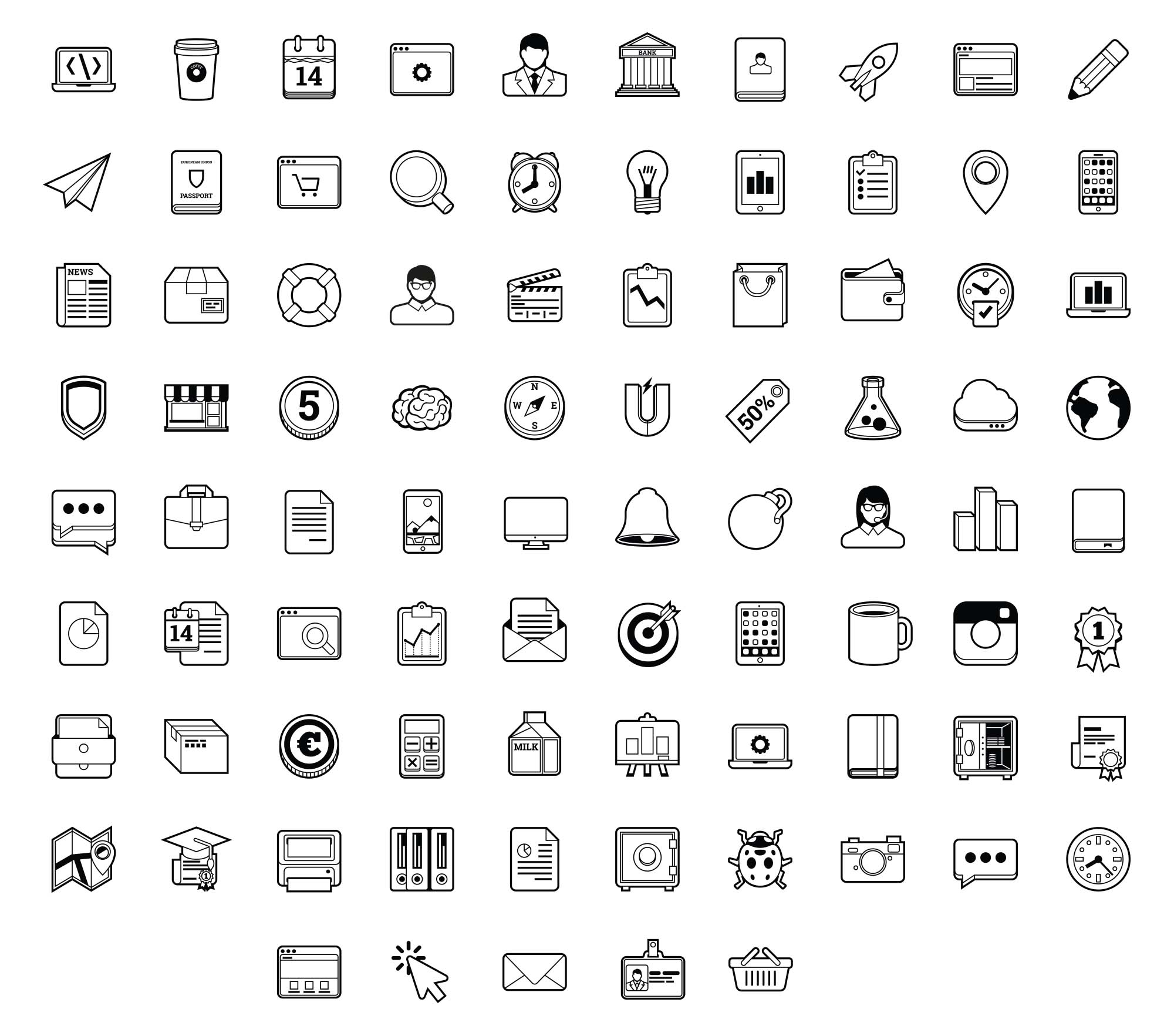 Vector Line Icons 3