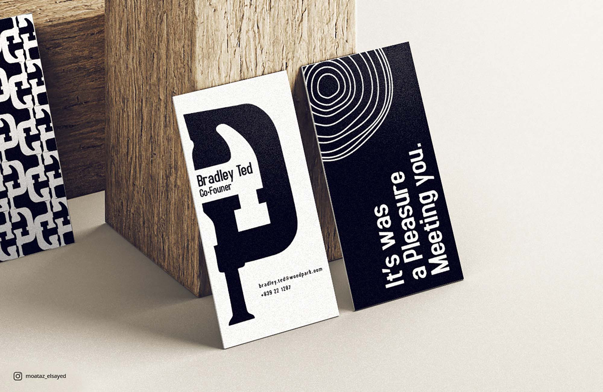 Vertical Business Cards Mockup 2