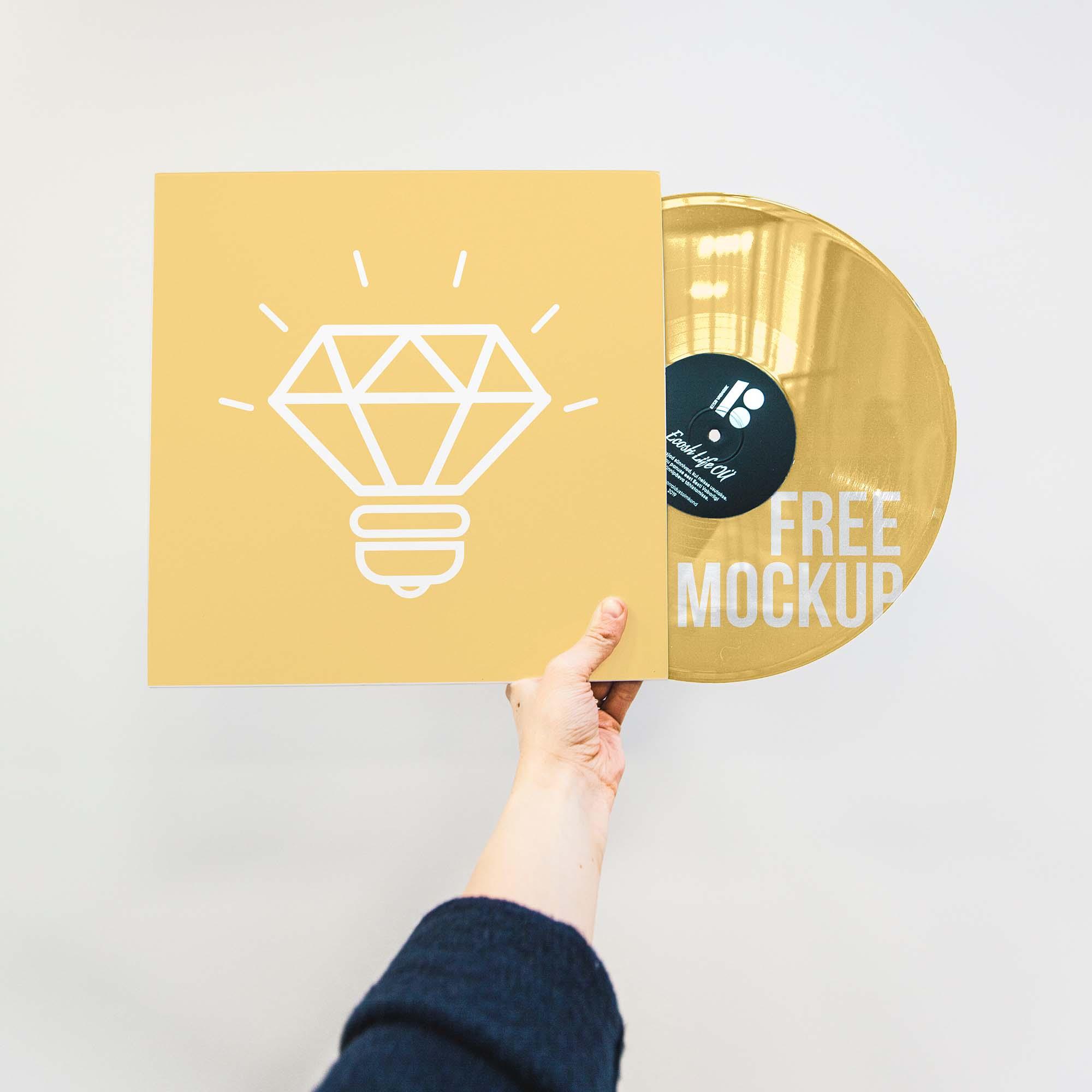 Vinyl Disc Mockup
