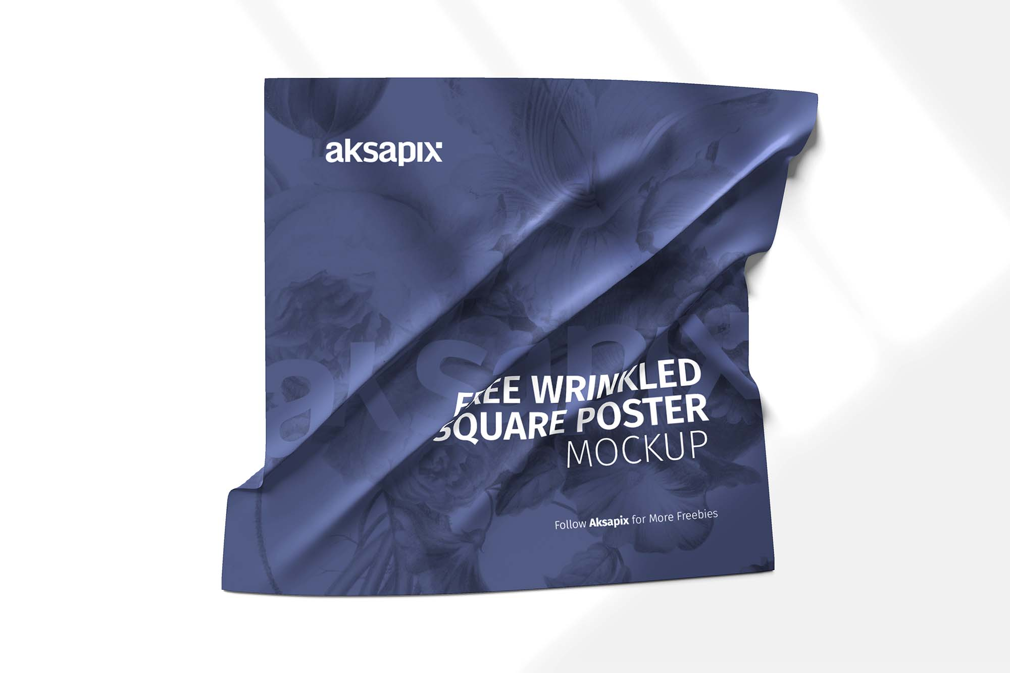Wrinkled Square Poster Mockup