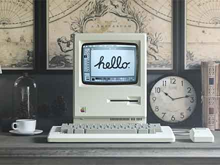 1984 Apple Macintosh Mockup
