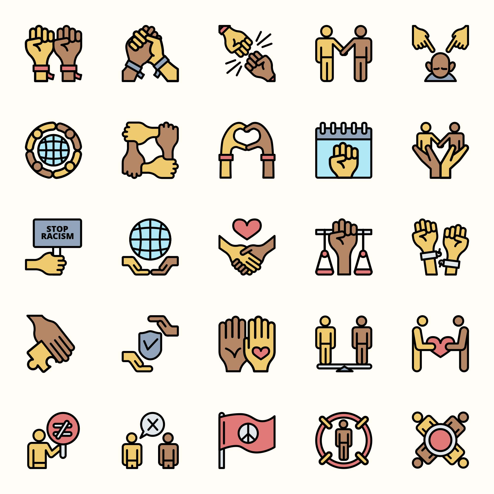 Racist Vector Icons
