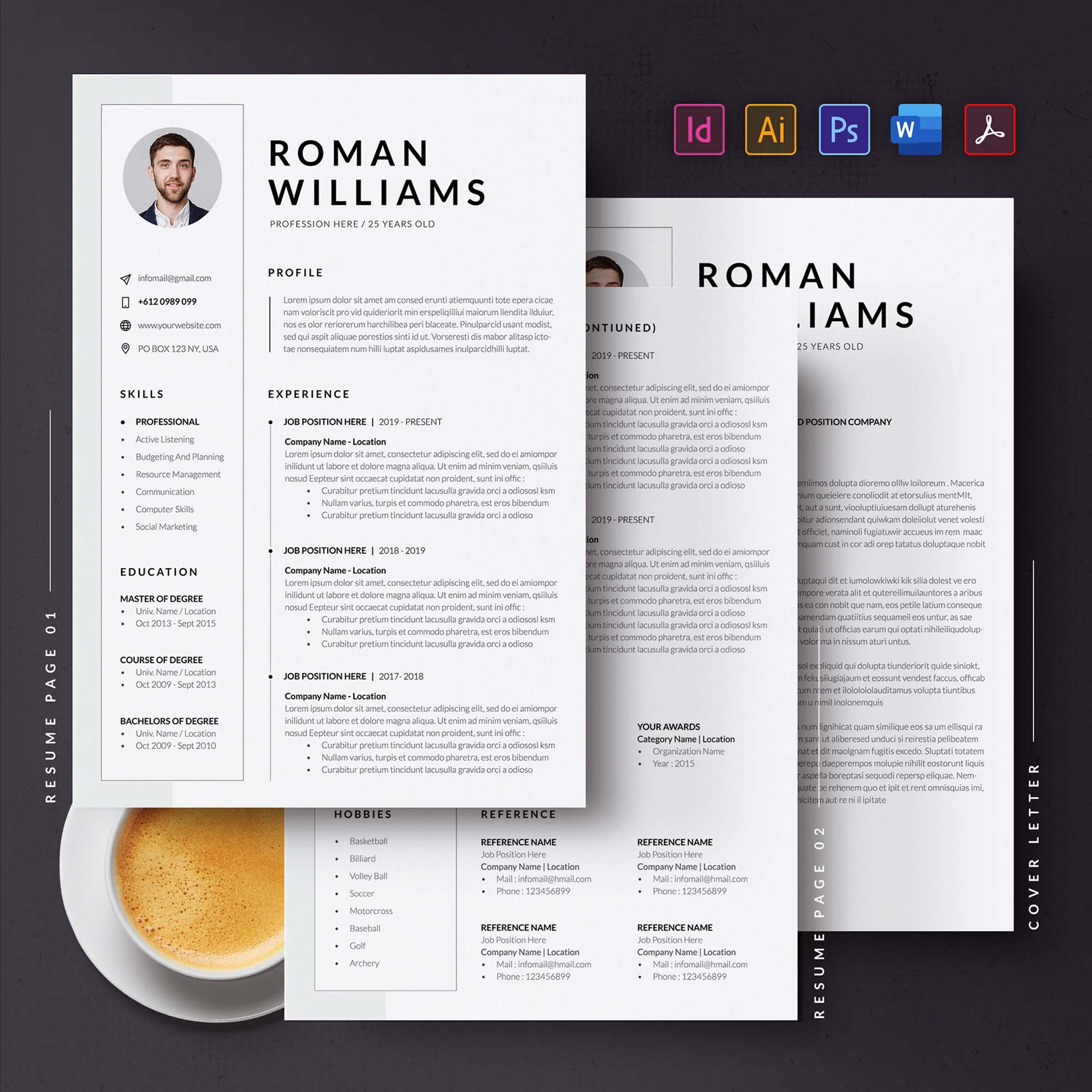 3 Page Resume Template 1
