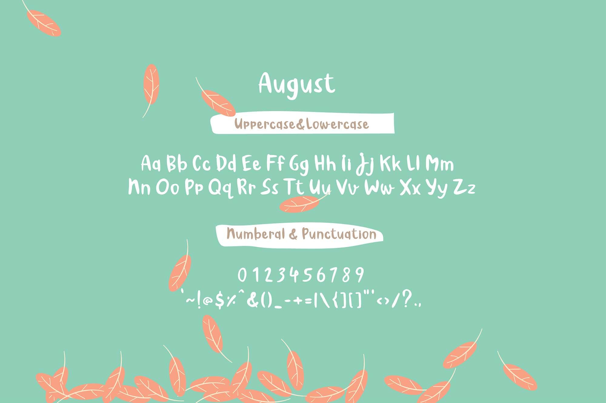 August Font 4