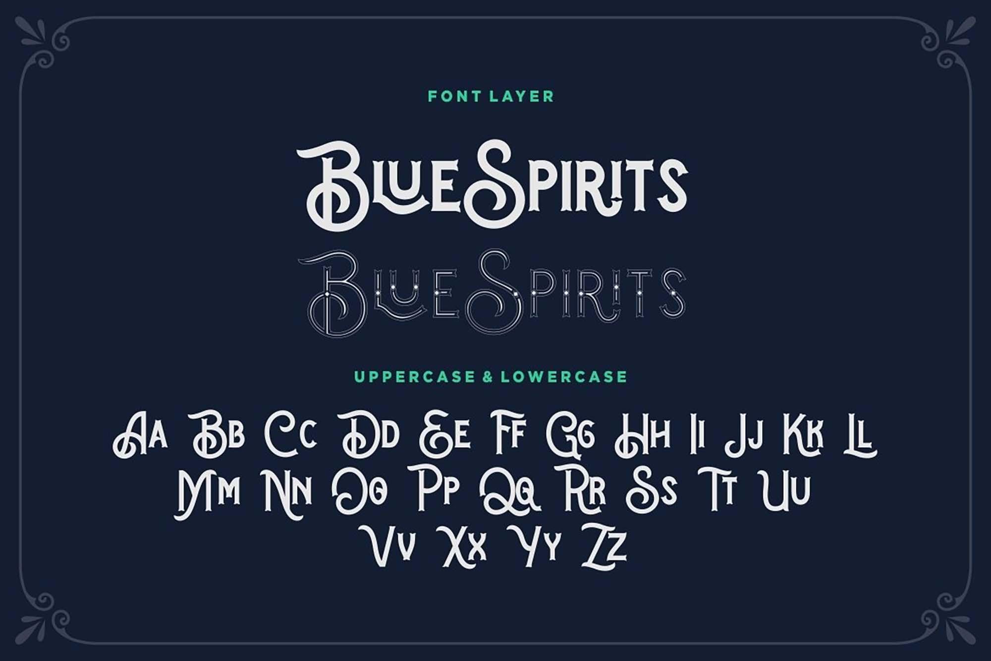 Blue Spirits Display Font 2