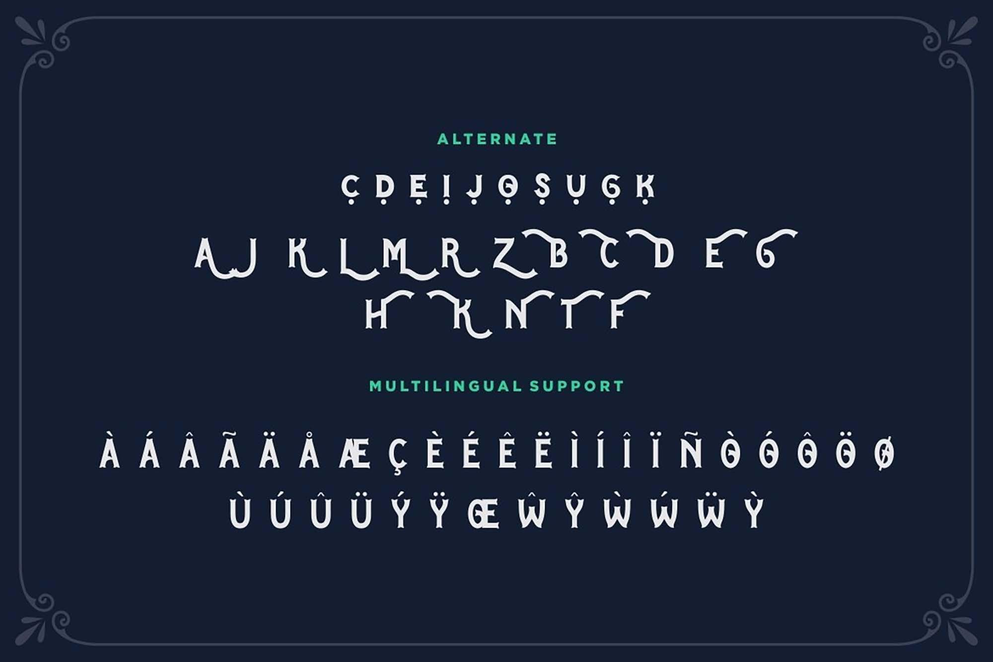 Blue Spirits Display Font 6