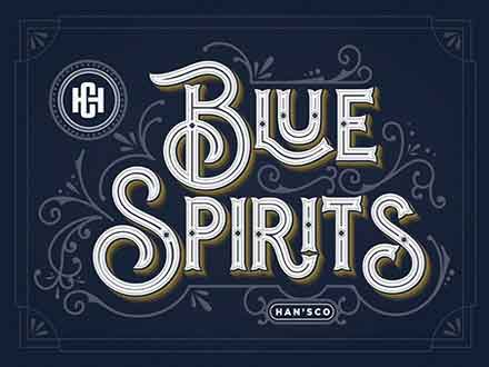 Blue Spirits Display Font