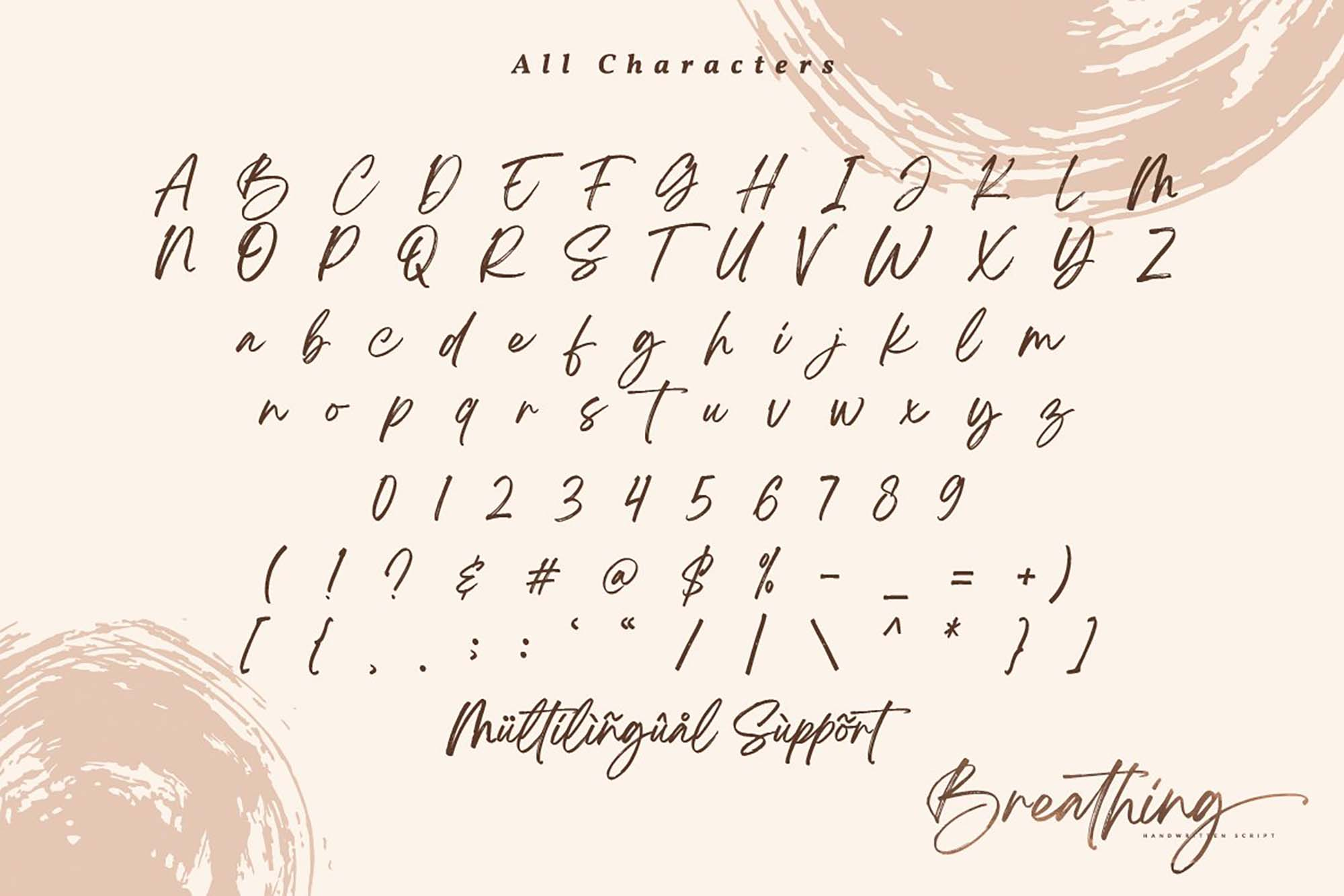 Breathing Brush Font 10
