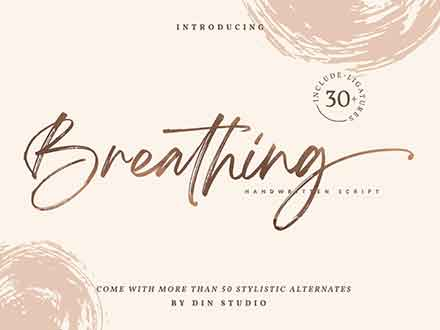 Breathing Brush Font