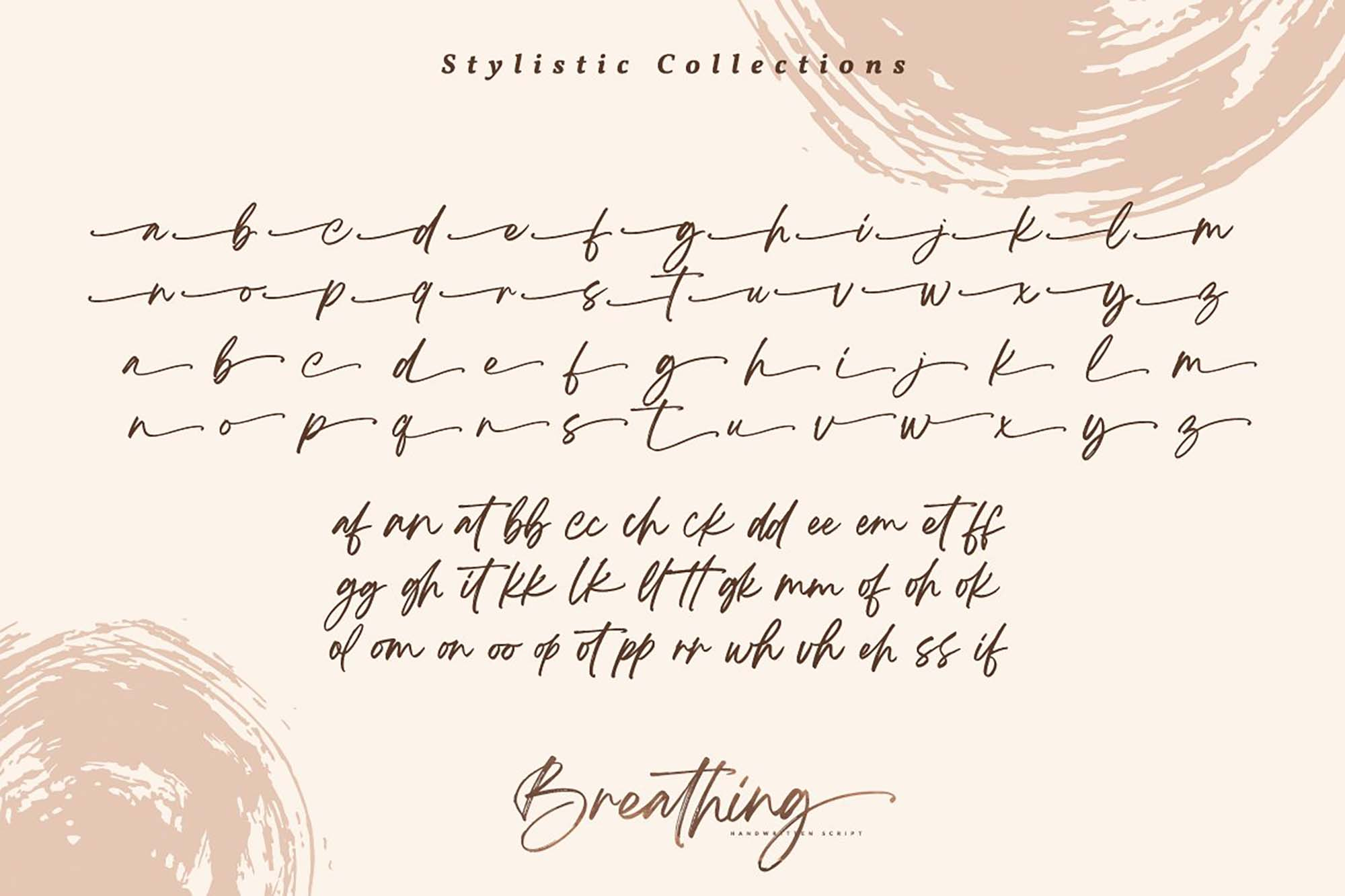 Breathing Brush Font 9