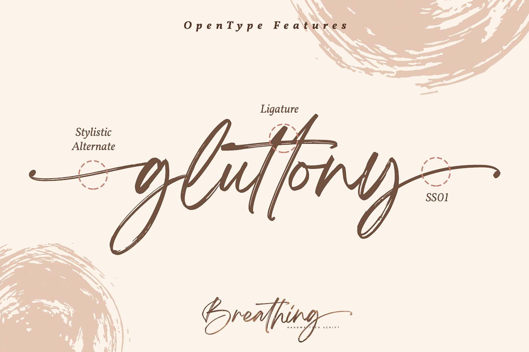 Breathing Brush Font 15